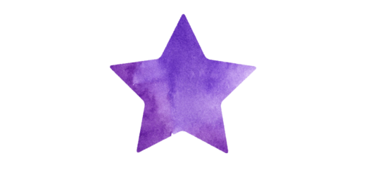 紫の星のイラスト