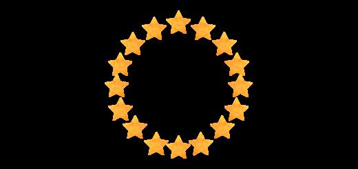 【無料素材】星のエンブレムのフレーム