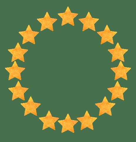 【無料素材】ランキングの星フレーム