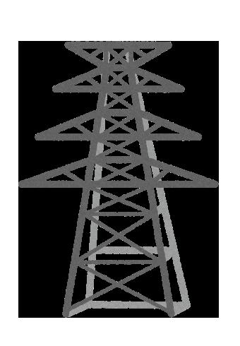 【無料素材】送電塔のイラスト