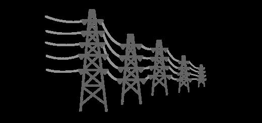 送電線のイラスト