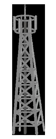 【無料素材】携帯の基地局タワーのイラスト