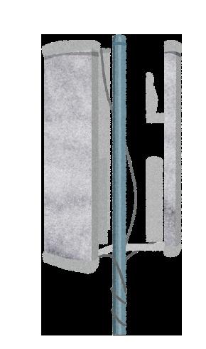 【無料素材】5Gの携帯基地局のイラスト