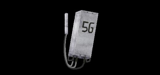 5Gの携帯基地局のイラスト