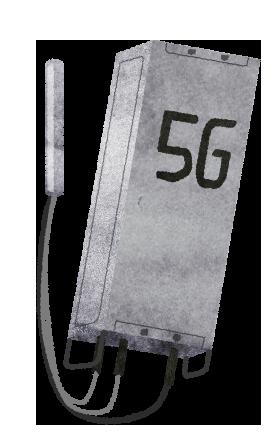 【無料素材】5Gの基地局のイラスト