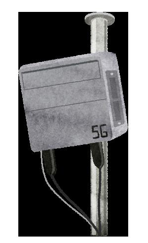 【無料素材】5G携帯基地局のイラスト
