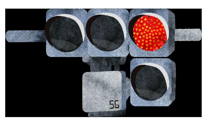 【無料素材】5G基地局信号タイプのイラスト