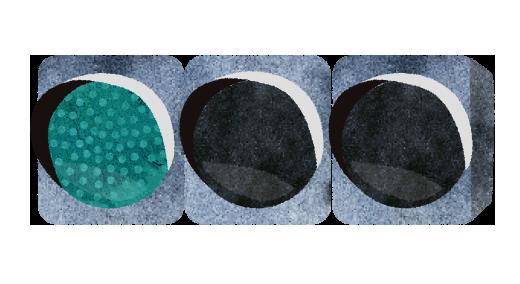 【無料素材】青のLED信号機のイラスト