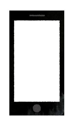 【無料素材】スマホの何も無い画面のイラスト
