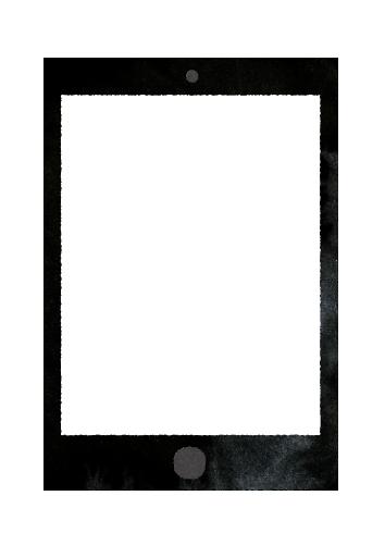 【無料素材】タブレットの何も無い画面のイラスト