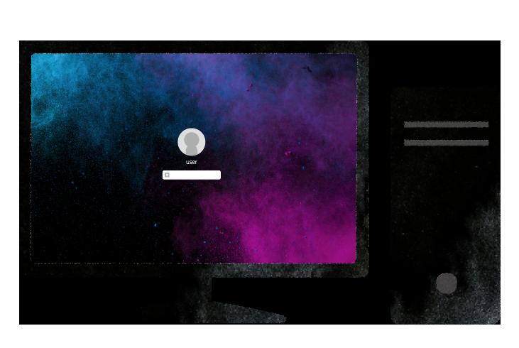 【無料素材】デスクトップパソコンのイラスト
