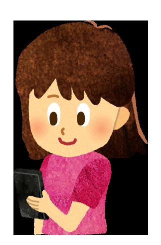 【無料素材】子供のスマホのイラスト