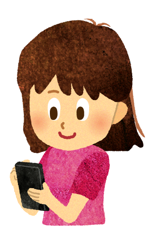 【無料素材】子供がスマホを操作しているイラスト