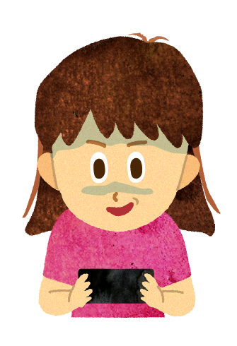 【無料素材】YouTube依存症の女の子のイラスト
