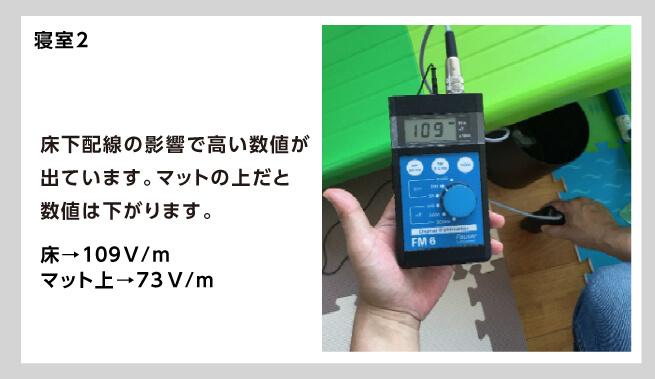 2階の電磁波は配電線の影響で高い