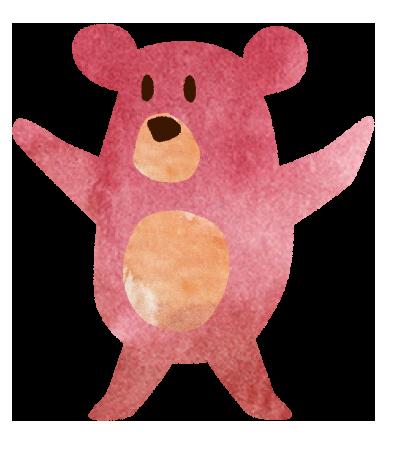 【無料素材】バンザーイしているクマのイラスト