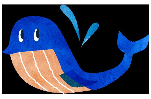 【無料素材】鯨のイラスト