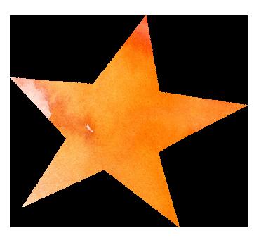 【無料イラスト】黄色の星のイラスト