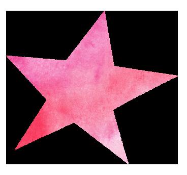 【無料イラスト】ピンク色の星のイラスト