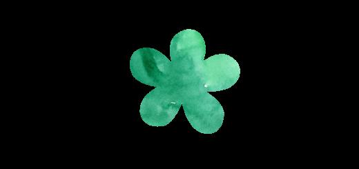緑色のお花のイラスト