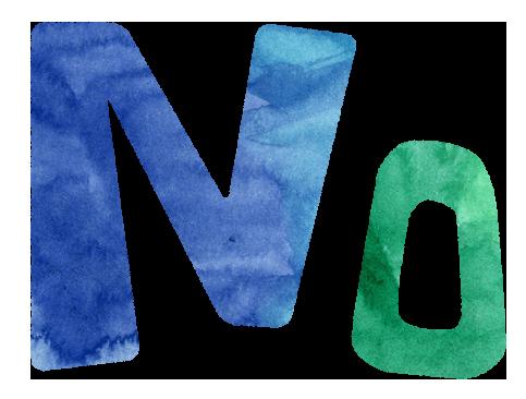 【無料素材】NOの文字イラスト