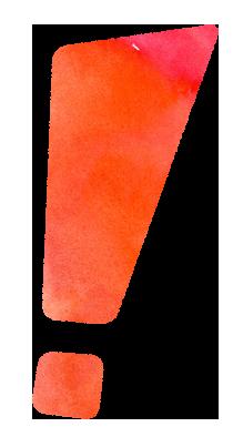 【無料素材】ビックリマークのイラスト