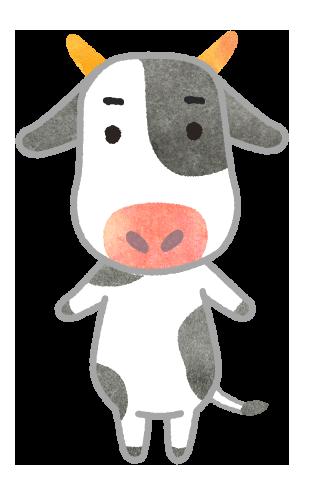 【年賀状無料素材】丑年 牛のイラスト
