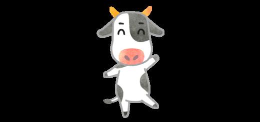 ダンスする牛のイラスト