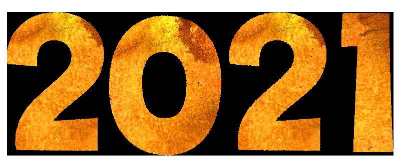 【2021年賀状】数字イラスト無料素材