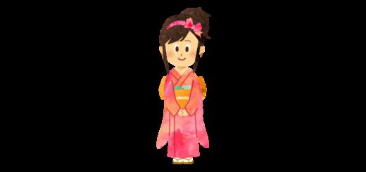 和服を着た女性のイラスト