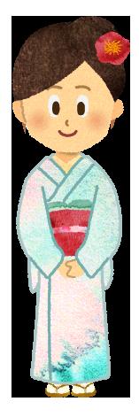 【無料素材】留め袖を着た女性のイラスト