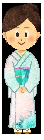 【無料素材】旅館の女将さんのイラスト