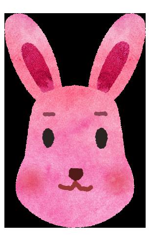 【無料素材】ウサギさんの顔イラスト