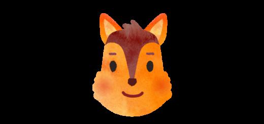 リスのお面のイラスト