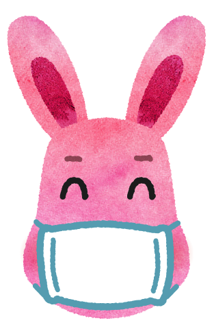rabbit with mask