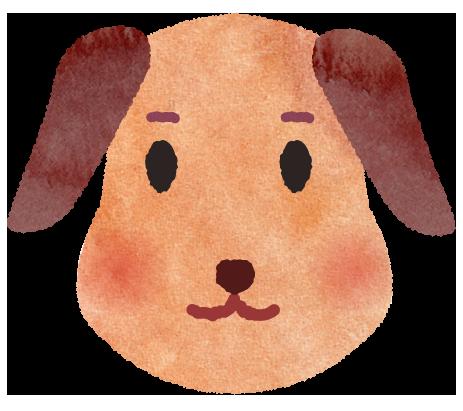 犬のお面のイラスト