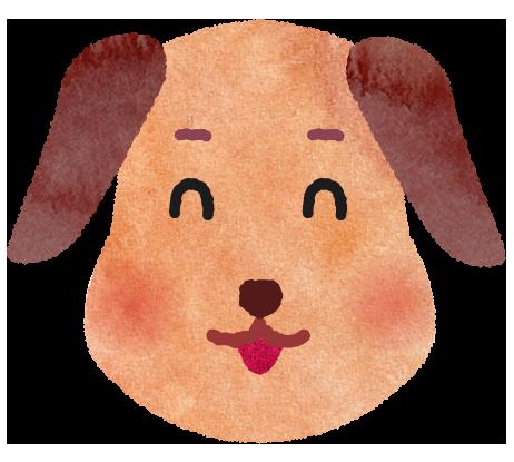 笑顔の犬のイラスト
