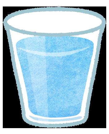 グラスに入った水のイラスト