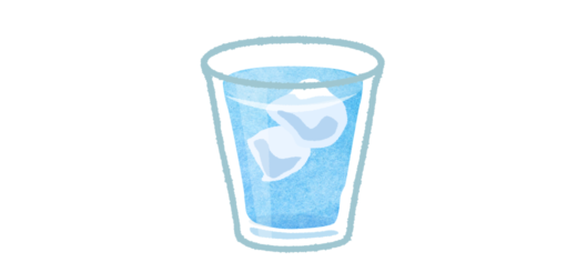 氷入り水のイラスト