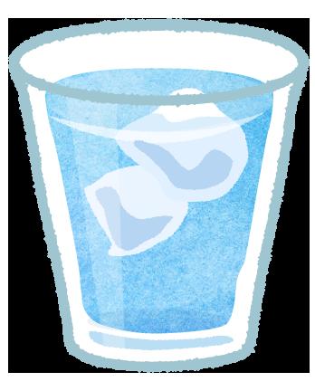 氷の入った水のイラスト