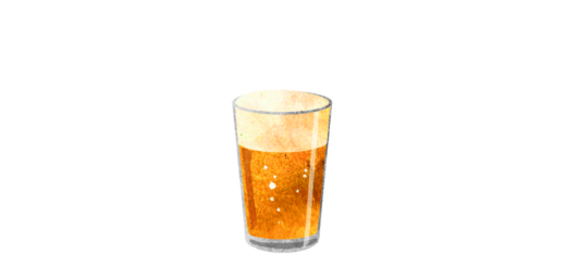 グラスビールのイラスト