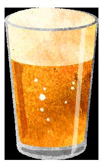 小サイズのビールのイラスト