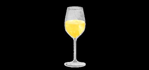 シャンパングラスのイラスト