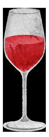 ロゼワインのイラスト