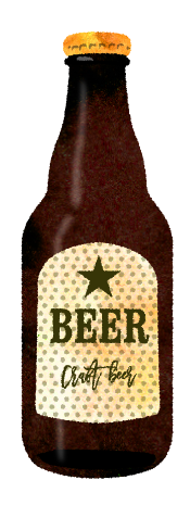 瓶ビールのイラスト素材