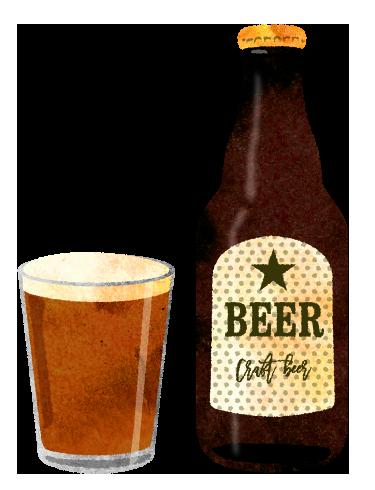 クラフトビールの無料イラスト素材