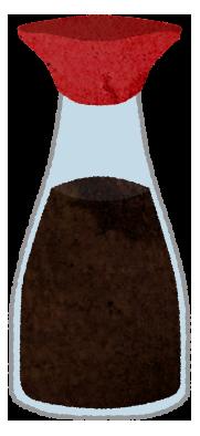 醤油の入れ物のイラスト素材