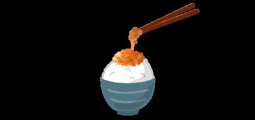 納豆ごはんのイラスト