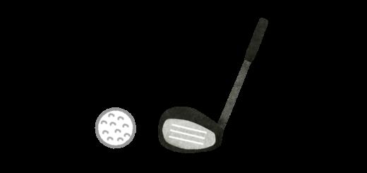 ゴルフのドライバーのイラスト