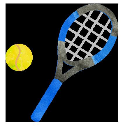 テニスの青いラケットのイラスト